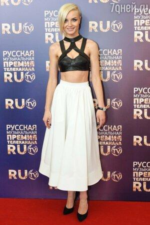Полина Гагарина на вручении премии «RU.TV-2013»