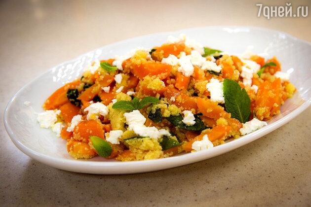 Теплый салат с печеной морковью: рецепт от ведущей Лены Усановой