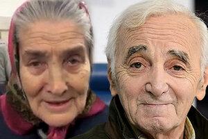 Шарль Азнавур встретился с 73-летней бабушкой Лидой из Москвы