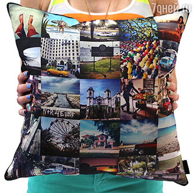 Диванная подушка с фотографиями лучших событий прошедшего года
