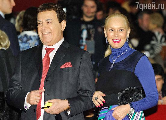 Иосиф и Нелли Кобзон на премьере фильма «Сталинград»