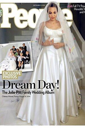Анджелина Джоли в свадебном платье на обложке People