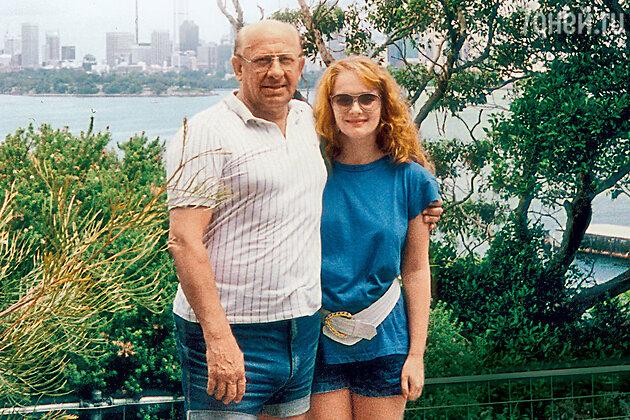 Евгений Евстигнеев на отдыхе в Австралии. 1991 г.