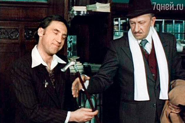 Евгений Евстигнеев с Владимиром Высоцким в сериале «Место встречи изменить нельзя». 1979 г.
