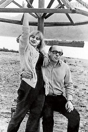 Евгений Евстигнеев с дочерью Машей