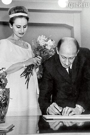 Свадьба Евстигнеева и Лилии Журкиной. 1966 г.