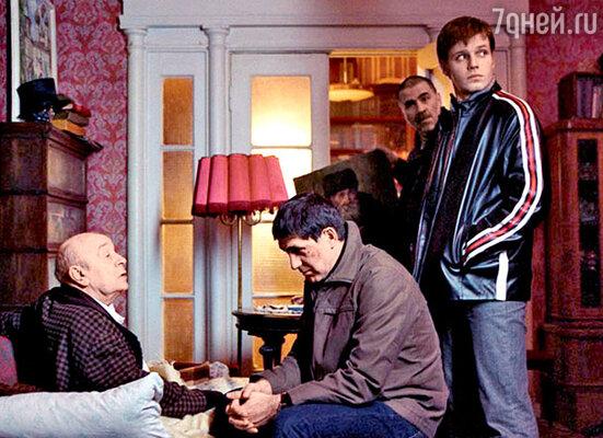 Сергей Пускепалис и Леонид Броневой на съемках фильма «Простые вещи»