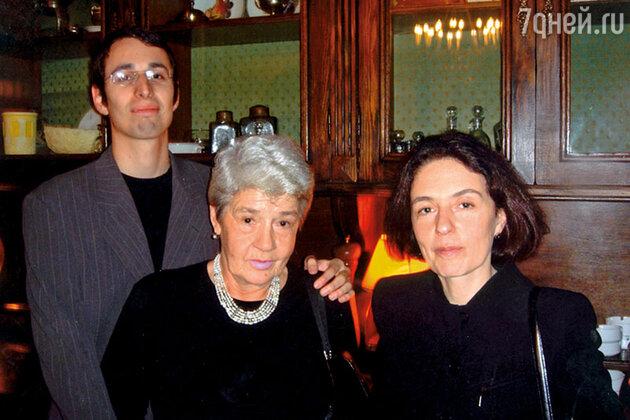 Екатерина Гердт с матерью и сыном