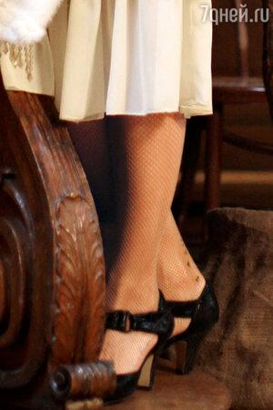 Тату Екатерины Климовой практически незаметно на ноге