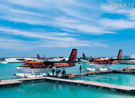 Между островами на Мальдивах курсируют воздушные такси