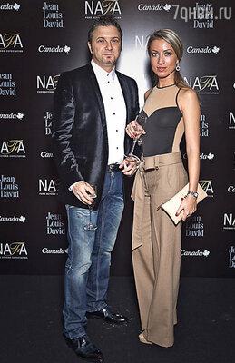 Дизайнер Маурицио Браски с подругой