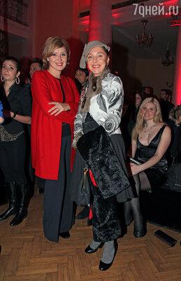 Елена Ищеева и дизайнер Виолетта Литвинова