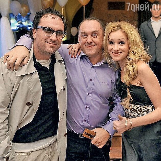 Дмитрий Нагиев и Виктор Бондарюк с Ириной Темичевой