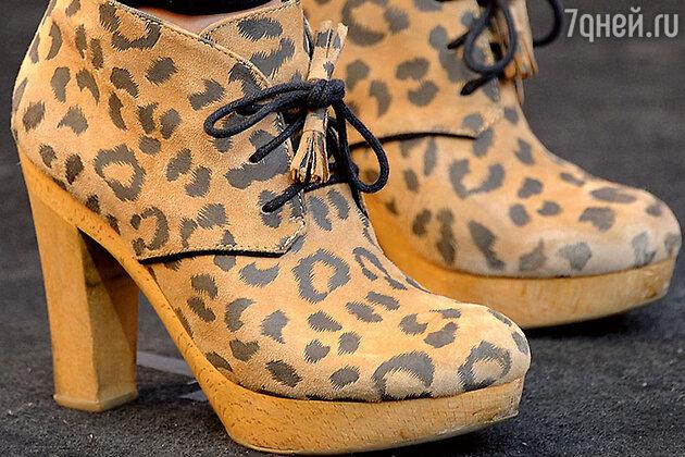 Обувь «под леопарда»