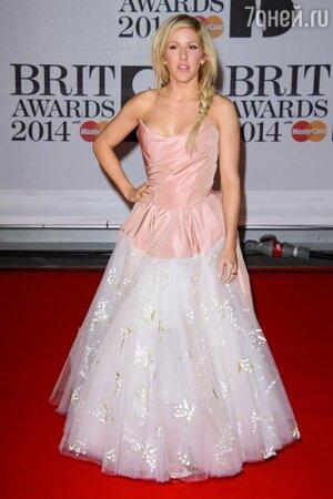 Элли Голдинг на церемонии BRIT Awards-2014