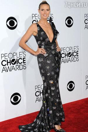 Хайди Клум (Heidi Klum) в Giorgio Armani на 40-й церемонии вручения наград People's Choice Awards 2014