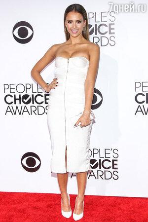 Джессика Альба (Jessica Alba)  в Jason Wu на 40-й церемонии вручения наград People's Choice Awards 2014