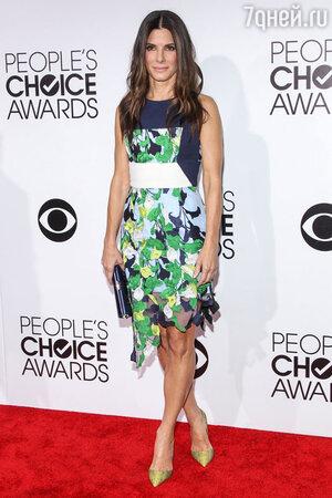 Сандра Баллок (Sandra Bullock) в Peter Pilotto на 40-й церемонии вручения наград People's Choice Awards 2014