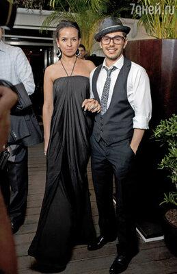 Тимур Родригес с женой Анной