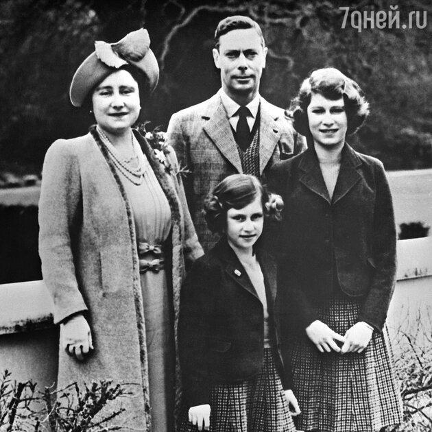 Георг VI с женой и дочерьми