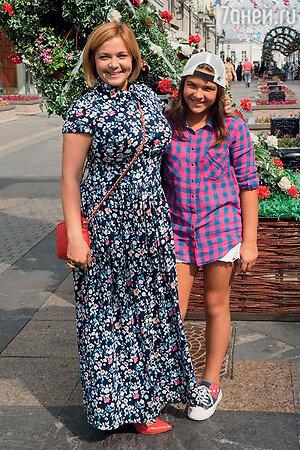 Ирина Пегова с дочерью Таней
