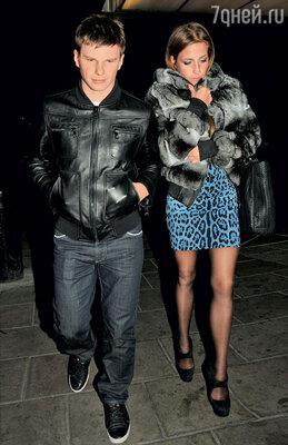 Андрей Аршавин с гражданской женой Юлией