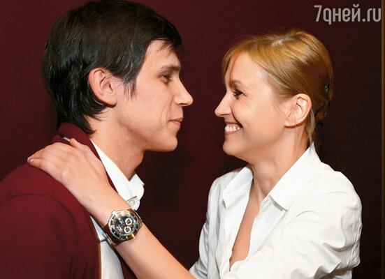 Леня с Ингеборгой Дапкунайте на премьере фильма «Морфий»