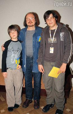 Алексей с сыновьями — Петей и Федором