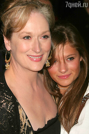 Мэрил Стрип со своей дочкой