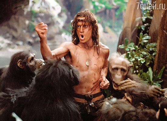 Когда-то про меня говорили: «Ламбер только и может, что амбалов бить да с гориллами скакать». Кадр из фильма «Легенда о Тарзане, повелителе обезьян», 1984 год