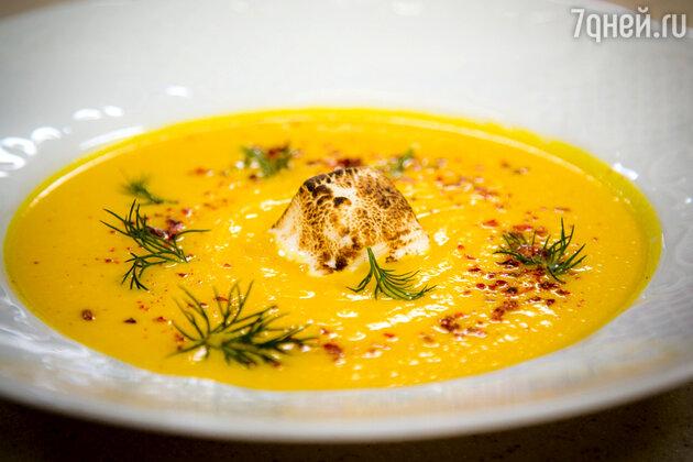 Морковно-имбирный суп с маршмеллоу: рецепт от ведущей Лены Усановой