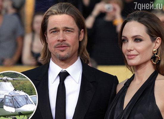 Анджелина Джоли на день рождения подарила Брэду Питту вертолет стоимостью 1,5 миллиона долларов