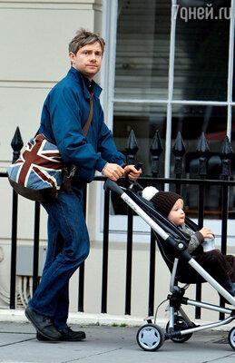 С сыном Джо. 2008 г.