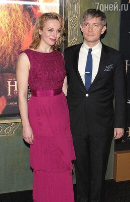 С гражданской женой— актрисой Амандой Эббингтон. Лондон, 2010 г.