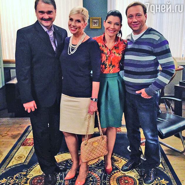 Алена Свиридова, Екатерина Волкова, Егор Дронов и Александр Жигалкин