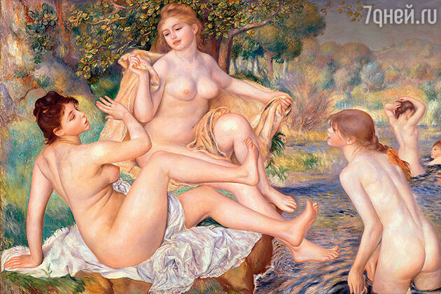 Фото репродукции картины «Большие купальщицы»