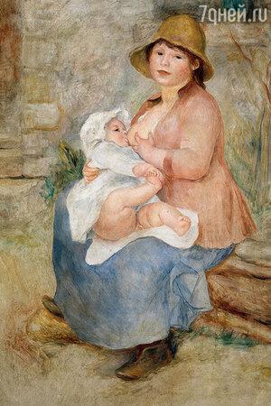 Фото репродукции картины «Материнство» работы Пьера Огюста Ренуара. Музей Орсе, Париж