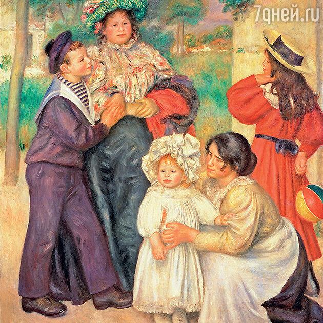 Фото репродукции картины «Семья художника» работы Пьера Огюста Ренуара, 1896 г. фонд Барнса, Филадельфия
