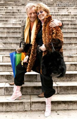 Любовь Казарновская с мужем