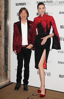 Лорен Скотт прожила вместе с лидером группы «The Rolling Stones» Миком Джаггером 13 лет. Один из последних выходов пары в свет. Лондон, ноябрь 2013 года