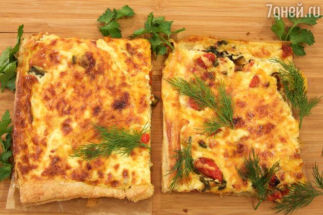 Слоенный пирог с овощами