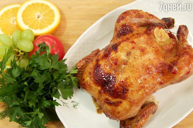 Курица с карамелизованными овощами