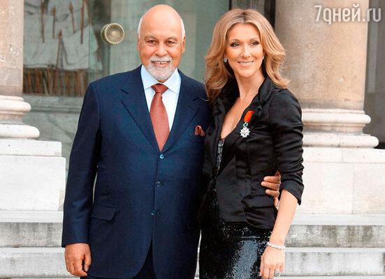 Селин Дион с мужем Рене Анджели
