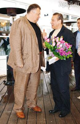 На праздновании 50-летия с Геннадием Хазановым