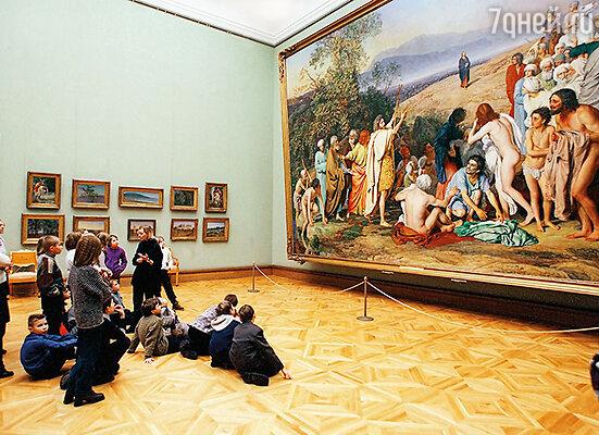 Картина  Александра  Иванова «Явление Христа народу» находится в Третьяковской галерее в Москве