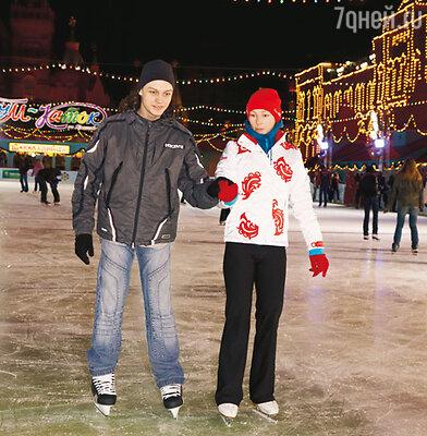 Алена Бабенко и ее сын Никита