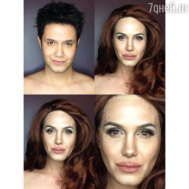 Макияж как у Анджелины Джоли