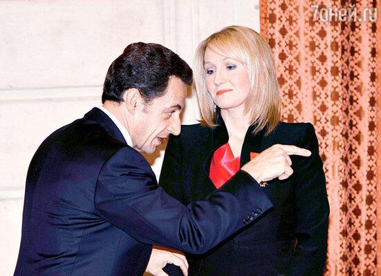 Николя Саркози поздравляет Джоанну Роулинг