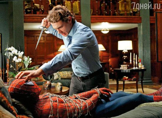 В блокбастерной трилогии «Человек-паук» Джейм Франко поначалу пробовался на центральную роль Питера Паркера, но затем попал в команду «главных злодеев», сыграв Гарри Осборна