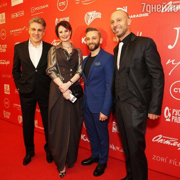 Ольга Погодина и Алексей Пиманов с итальянскими создателями картины «Любовь прет-а-порте»